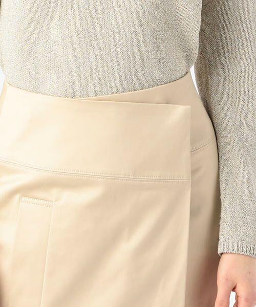 TOMORROWLAND / トゥモローランド ミニ・ひざ丈スカート | コットンサテン ラップスカート | 詳細9