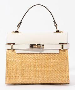 シンプルで飽きのこないデザインが人気のイタリアのブランド〈Carol J.(キャロル ジェイ)〉。<br>クラシックなレザーフラップとラフィアのコンビが印象的なハンドバッグは、マチがあり適度な収納力も魅力です。<br>取り外し可能なストラップ付きでさまざまなスタイリングをお楽しみいただけます。<br><br>2020SS商品<br><br><b>店舗にお問い合わせの際は、下記の商品番号をお申し付けください。<br>商品番号:33-03-01-03020</b>