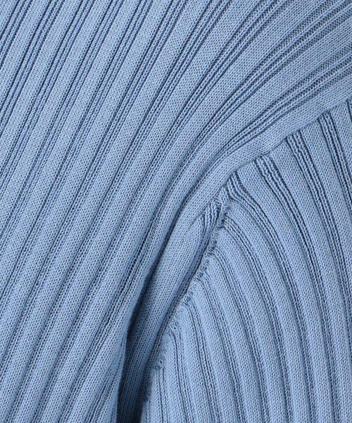 TOMORROWLAND / トゥモローランド ロング・マキシ丈ワンピース | コットンランダムリブ クルーネックワンピース | 詳細4