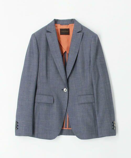 TOMORROWLAND / トゥモローランド テーラードジャケット   シルキーシャンブレー セミピークドラペルジャケット   詳細7
