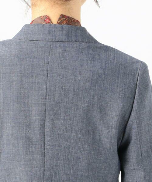 TOMORROWLAND / トゥモローランド テーラードジャケット   シルキーシャンブレー セミピークドラペルジャケット   詳細9