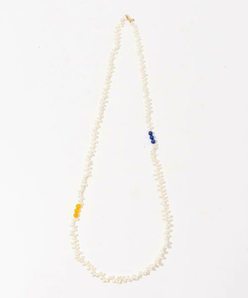 TOMORROWLAND/トゥモローランド LOREN STEWART STONE & PEARL WRAP ネックレス 12 ホワイト系 F