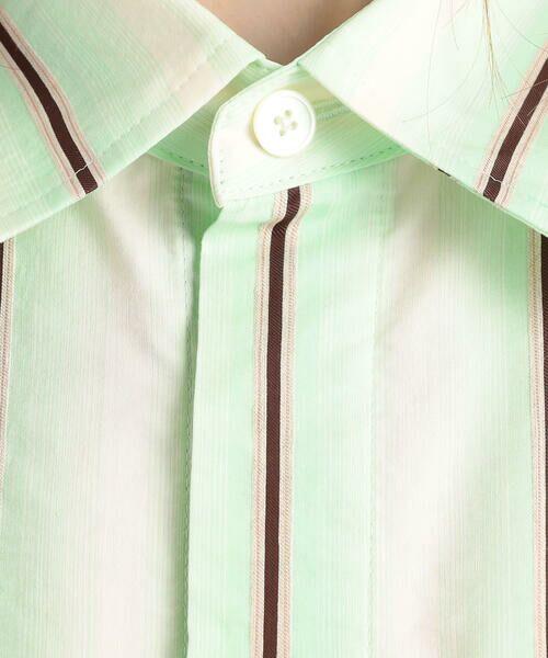 TOMORROWLAND / トゥモローランド シャツ・ブラウス | オンブレストライプ フレンチスリーブシャツ | 詳細10