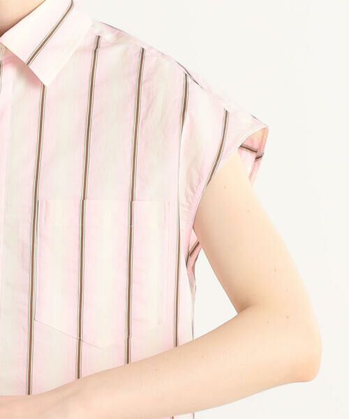 TOMORROWLAND / トゥモローランド シャツ・ブラウス | オンブレストライプ フレンチスリーブシャツ | 詳細8