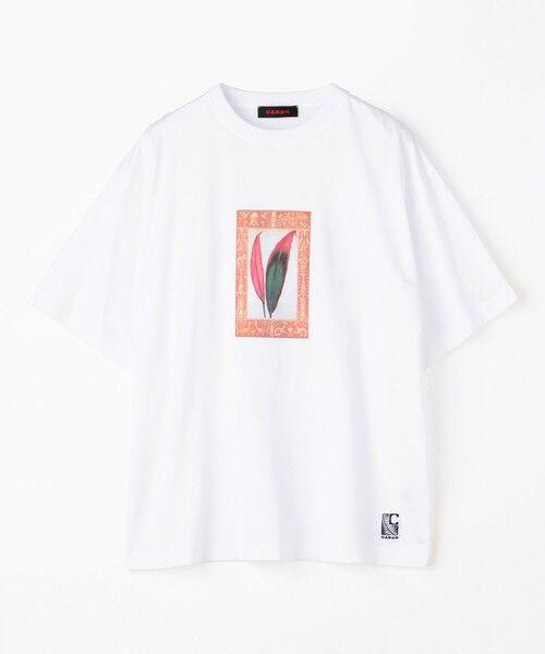 TOMORROWLAND / トゥモローランド カットソー | CABaN NEW CSTARICA アートTシャツ(11 ホワイト)