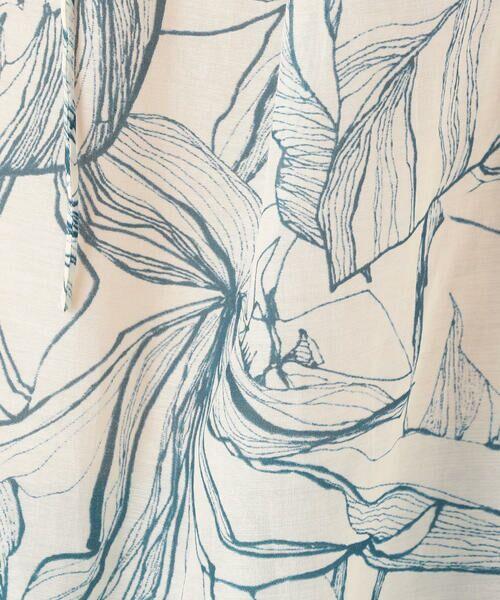 TOMORROWLAND / トゥモローランド シャツ・ブラウス   コットンシルクリーフプリント ヨークギャザーブラウス   詳細5