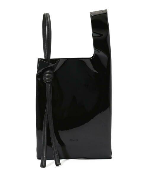TOMORROWLAND / トゥモローランド ハンドバッグ   ORSETTO GEL エナメルショッピングバッグ(19 ブラック)