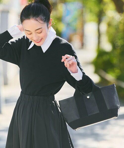 TOPKAPI / トプカピ トートバッグ | 【日本製】スコッチグレインネオレザー・ミニトートバッグ(ブラック)