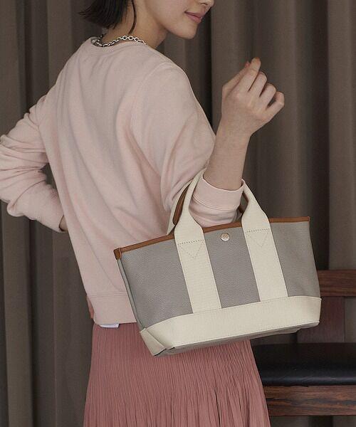 TOPKAPI / トプカピ トートバッグ | 【日本製】スコッチグレインネオレザー・ミニトートバッグ(ライトグレー)