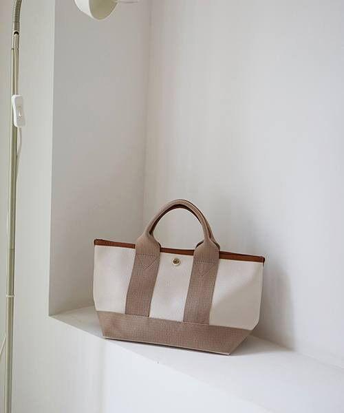 TOPKAPI / トプカピ トートバッグ | 【日本製】スコッチグレインネオレザー・ミニトートバッグ(ペールベージュ)