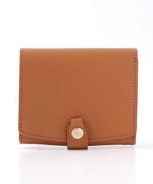 TOPKAPI / トプカピ 財布・コインケース・マネークリップ | 角シボ型押し・折り財布(キャメル)