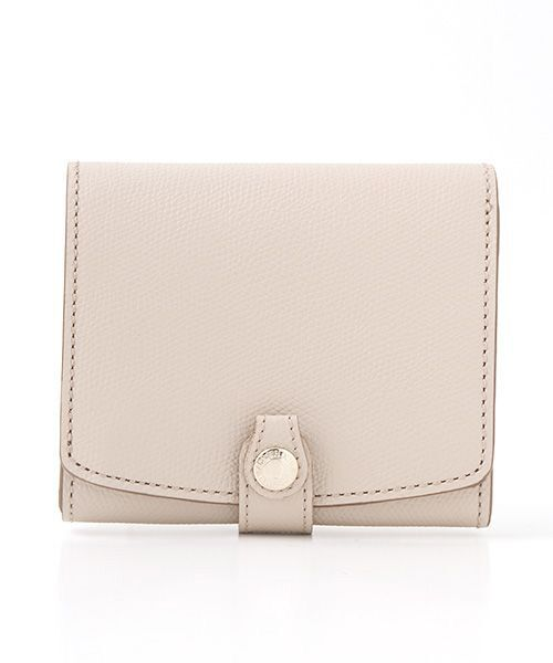 TOPKAPI / トプカピ 財布・コインケース・マネークリップ | 角シボ型押し・折り財布(グレージュ)
