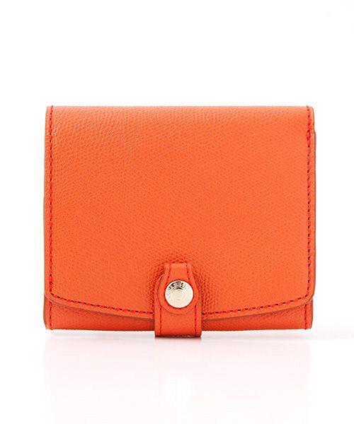 TOPKAPI / トプカピ 財布・コインケース・マネークリップ | 角シボ型押し・折り財布(オレンジ)