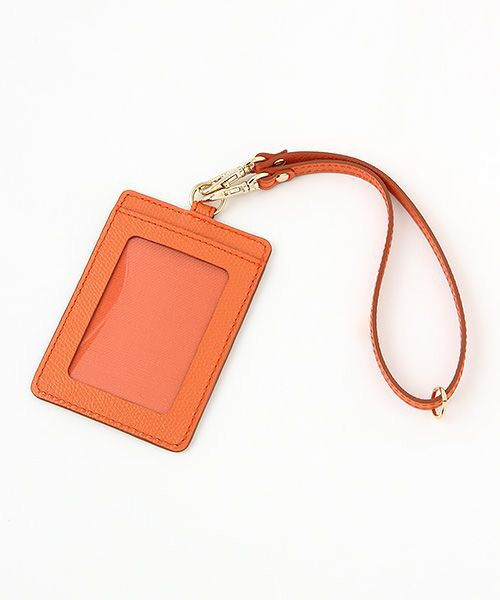 TOPKAPI / トプカピ カードケース・名刺入れ・定期入れ | 角シボ型押し・パスケース(オレンジ)