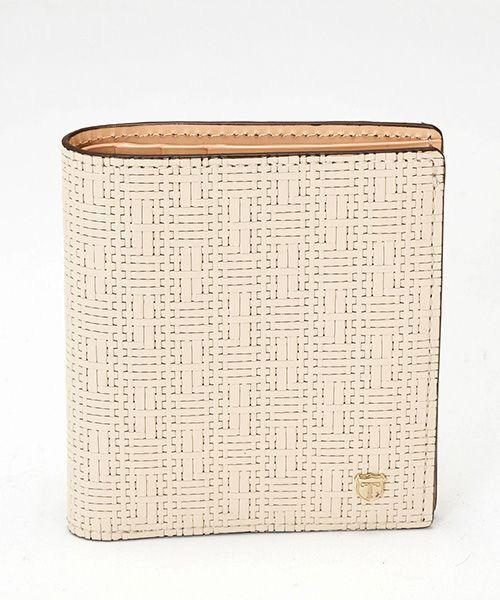 TOPKAPI / トプカピ 財布・コインケース・マネークリップ | RITMO[リトモ]メッシュ柄型押し・二つ折りミニ財布 | 詳細1