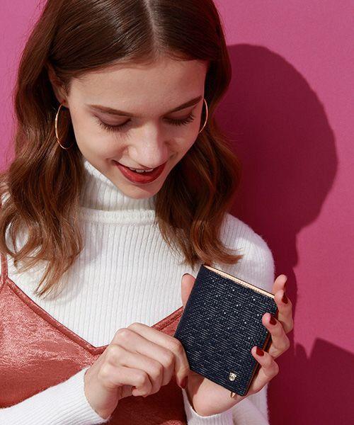 TOPKAPI / トプカピ 財布・コインケース・マネークリップ | RITMO[リトモ]メッシュ柄型押し・二つ折りミニ財布(コン)