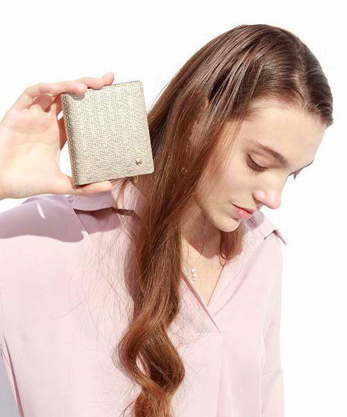 TOPKAPI / トプカピ 財布・コインケース・マネークリップ | RITMO[リトモ]メッシュ柄型押し・二つ折りミニ財布 | 詳細18