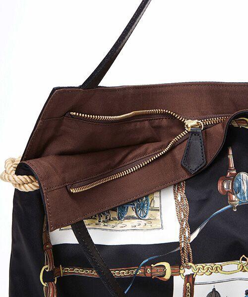 TOPKAPI / トプカピ トートバッグ | [トプカピ トレジャー]TOPKAPI TREASURE マイルドサテン スカーフ パネル柄 トートバッグ | 詳細2