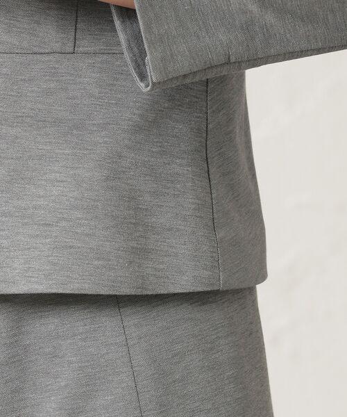 TRANS WORK (大きいサイズ) / トランスワーク (オオキイサイズ) テーラードジャケット   【L】【セットアップ対応】【美Jacket】【接触冷感】【吸水速乾】【ウォッシャブル】クールマックスモックロディノーカラージャケット   詳細10