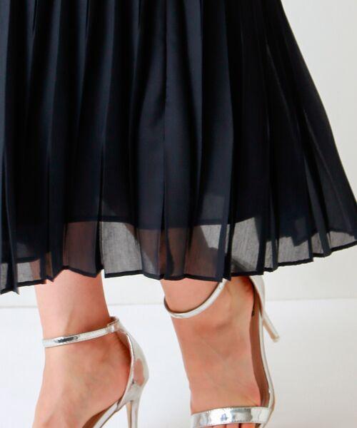 TRANS WORK / トランスワーク ロング・マキシ丈スカート | 【ウォッシャブル】幾何プリーツスカート | 詳細8