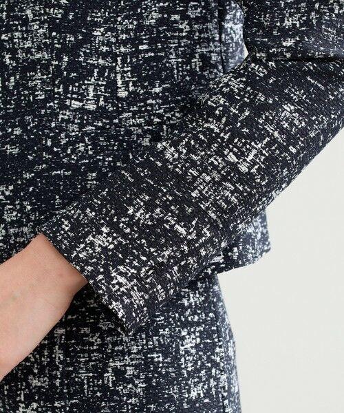 TRANS WORK / トランスワーク ノーカラージャケット   【セットアップ対応】【美Jacket】ツイーディーアートピケジャケット   詳細9