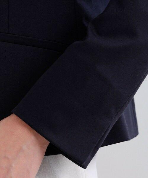 TRANS WORK / トランスワーク ノーカラージャケット | 【セットアップ対応】【XSサイズ〜】【美Jacket】トリアセルクスVラインジャケット | 詳細9