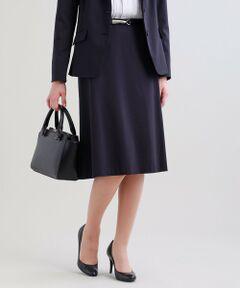 【セットアップ対応】【XSサイズ〜】【美Skirt】トリアセルクスセミフレアースカート<br /><br />セミフレアーシルエットのシンプルなスカートです。膝が隠れるレングスで女性らしいエレガントな美シルエットデザインになっています。<br />スーピマ綿の細番手とポリエステル、パルプ原料のサスティナブル素材であるトリアセテートをハイゲージ編機で編み上げた素材です。表情はコンパクトな布帛調ですが収縮性のあるコンフォートストレッチニットオックスなので着心地抜群です。トリアセテートの持つ上品な光沢感も特徴的な素材です。<br /><br />【美シリーズ】<br />バックスタイルに自信が持てる!<br />・ヒップポイントを高めにすることで、ヒップから脚にかけてのS字ラインを美しく表現<br />・脇線の位置を通常より後ろにすることでヒップを小さく見せてくれる視覚効果もあります<br /><br />▼セットアップジャケット U1E02307<br />▼セットアップジャケット U1E03307<br /><br /><br />【着用推奨シーズン】春〜秋<br /><br />モデル(下部ディテール画像):H 165 B 75 W 58 H 84 着用サイズ: 38