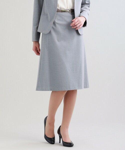 TRANS WORK / トランスワーク ロング・マキシ丈スカート | 【セットアップ対応】【XSサイズ〜】【美Skirt】トリアセルクスセミフレアースカート(グレー3)