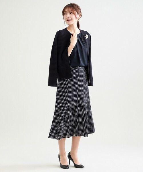 TRANS WORK / トランスワーク ロング・マキシ丈スカート | 【ウォッシャブル】シフトドットプリント裾フレアースカート | 詳細5