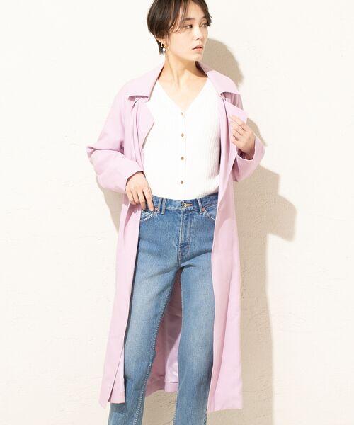 un dix cors / アンディコール その他アウター | マットカルゼトレンチ風コート(ピンク)