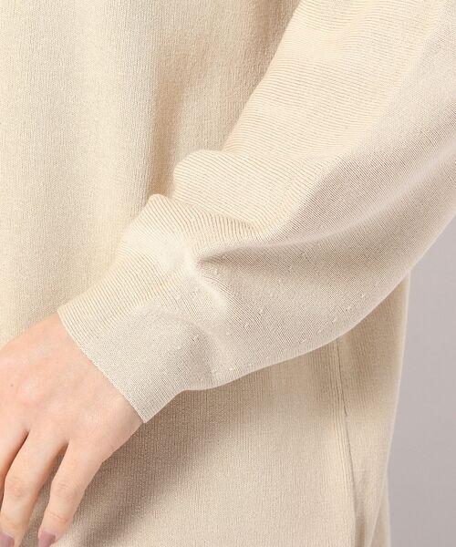 un dix cors / アンディコール ミニ丈・ひざ丈ワンピース | 裾スカーフニットワンピース | 詳細6
