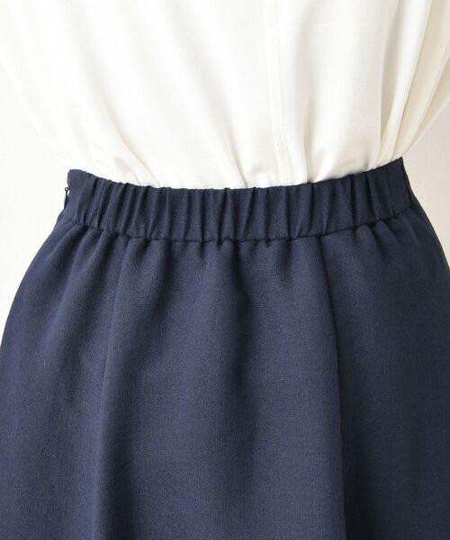 un dix cors / アンディコール デニムスカート | リネンタッチフロント釦スカート | 詳細11