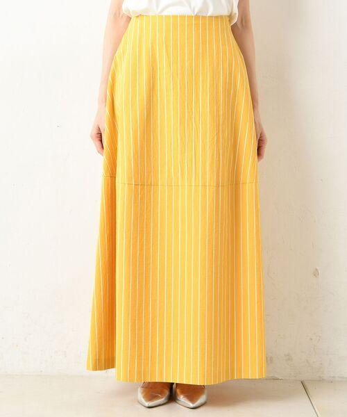 un dix cors / アンディコール デニムスカート | 【手洗い可】コットンストライプマキシスカート | 詳細10
