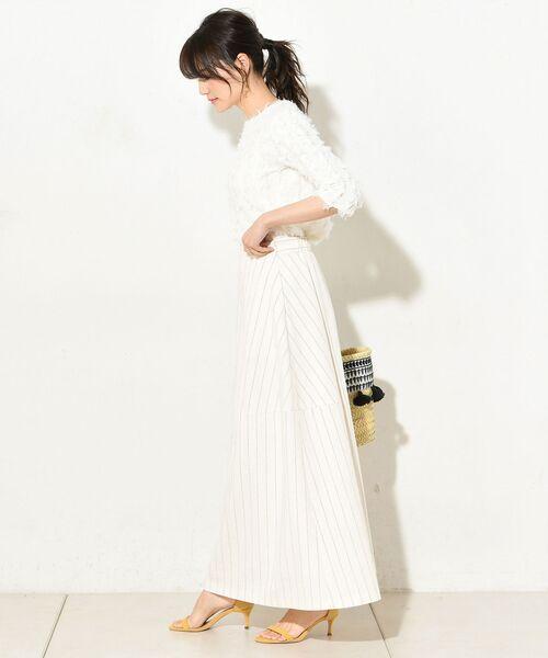 un dix cors / アンディコール デニムスカート | 【手洗い可】コットンストライプマキシスカート | 詳細2