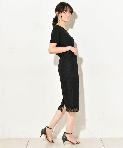 un dix cors / アンディコール デニムスカート | 【スタイルUP!】コードレースタイトスカート(ブラック)
