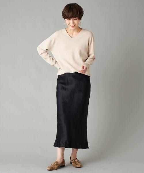 un dix cors / アンディコール デニムスカート | ヴィンテージサテンロングスカート(ブラック)