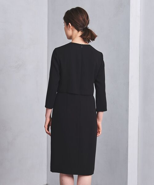 UNITED ARROWS / ユナイテッドアローズ ミニ丈・ひざ丈ワンピース | ◎UPBT フォーマル ブラック ワンピース | 詳細10