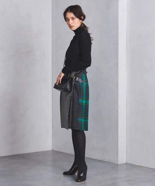 【予約】<O'NEIL of DUBLIN(オニールオブダブリン)>ツイード コンビ スカート