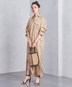 サファリ感のある胸ポケットが特徴のシャツワンピース。<br>細番手の糸を使用しフシがすくなく肌ざわりのよい素材感です。<br>一枚着としても、羽織としてもおすすめです。<br><br>※ 同型のご用意もございます。<br>  品名:UBCB リネン ストライプ シャツワンピース † 品番:15261443265<br>※ ご自宅でのお洗濯の際は、洗濯表示を必ずご確認ください。<br><br><font color=purple>店舗へお問い合わせの際は、全国のUNITED ARROWS各店舗まで下記の品名/品番をお申し付けください。<br>品名:UBCB LINEN SHT/OP  品番:15261441383</font><br><br>※画像の商品はサンプルです。<br>実際の商品と色味、仕様、加工、サイズ、素材等が若干異なる場合がございます。 <br><br>