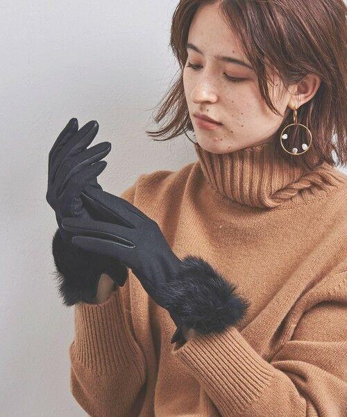 UNITED ARROWS / ユナイテッドアローズ 手袋 | UBCS ジャージー ファー グローブ T/P | 詳細2