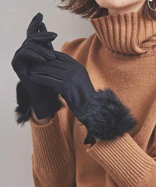 UNITED ARROWS / ユナイテッドアローズ 手袋 | UBCS ジャージー ファー グローブ T/P | 詳細1