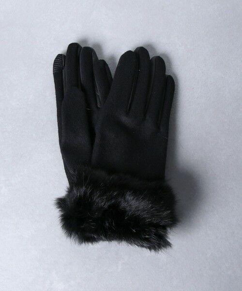 UNITED ARROWS / ユナイテッドアローズ 手袋 | UBCS ジャージー ファー グローブ T/P(BLACK)