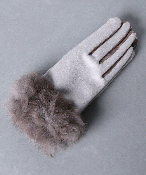 UNITED ARROWS / ユナイテッドアローズ 手袋 | UBCS ジャージー ファー グローブ T/P | 詳細5