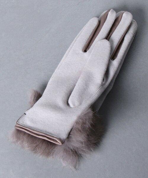UNITED ARROWS / ユナイテッドアローズ 手袋 | UBCS ジャージー ファー グローブ T/P | 詳細6