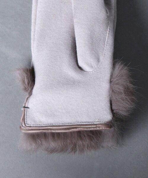 UNITED ARROWS / ユナイテッドアローズ 手袋 | UBCS ジャージー ファー グローブ T/P | 詳細8
