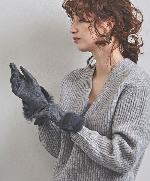 UNITED ARROWS / ユナイテッドアローズ 手袋 | UBCS ジャージー ファー グローブ T/P | 詳細12