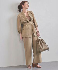 軽やかな印象の一重仕立てのベルテッドジャケット。<br>大きめのパッチポケットがアクセントとして効果的。<br>ナチュラルな風合いと表情感のある素材感も特徴。<br>程よく女性らしい抜け感を演出するセットアップです。<br><br>※ 同素材のパンツのご用意もございます。<br>品名:UBCB シャンブレー ワイドパンツ 品番:15142024675<br><br>※ ご自宅でのお洗濯の際は、洗濯表示を必ずご確認ください。<br><br><font color=purple>店舗へお問い合わせの際は、全国のUNITED ARROWS各店舗まで下記の品名/品番をお申し付けください。<br>品名:UBCB CHAM BELTED TRD 70P  品番:15222574675</font>