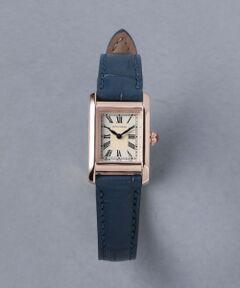 スクエア型のフェイスやローマ数字がクラシカルな印象の腕時計。<br>落ち着いた上品な色合いのベルトは、オンオフどちらでも活躍します。<br>華奢なデザインで、女性らしい手元を演出します。<br><br><font color=purple>店舗へお問い合わせの際は、全国のUNITED ARROWS各店舗まで下記の品名/品番をお申し付け下さい。<br>品名:◎UBCB SQ LEATHER GOLD  品番:17436990887</font><br><br>※画像の商品はサンプルです。<br>実際の商品と色味、仕様、加工、サイズ、素材等が若干異なる場合がございます。<br><br>