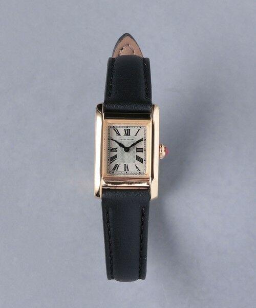 UNITED ARROWS / ユナイテッドアローズ 腕時計 | UBCB スクエア レザー 腕時計 GLD†(BLACK)