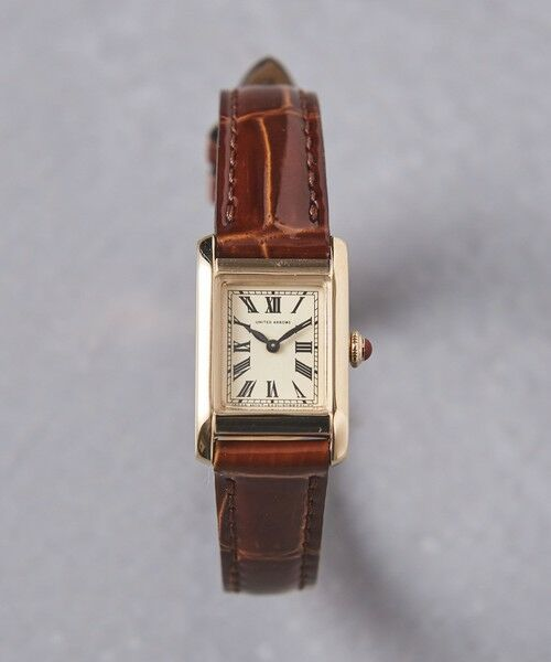 UNITED ARROWS / ユナイテッドアローズ 腕時計 | UBCB スクエア レザー 腕時計 GLD†(MD.BROWN)